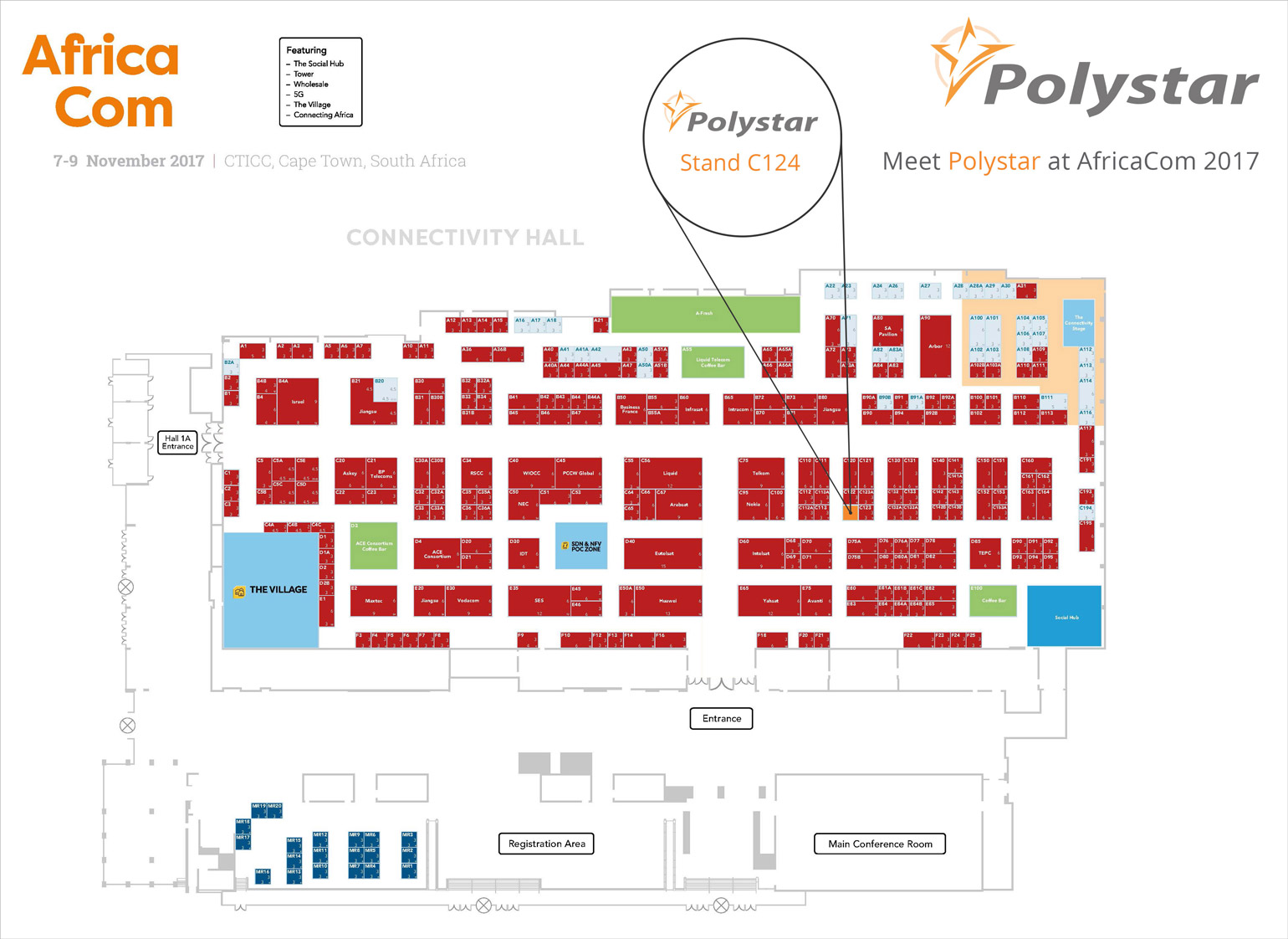 Polystar AfricaCom Location Plan 2017